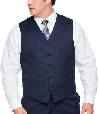 Jf J.Ferrar Windowpane Classic Fit Suit Vest - Big and Tall