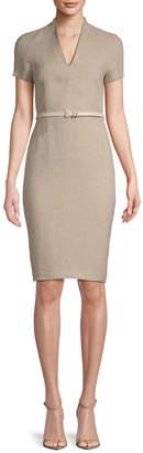 Max Mara Azeglio Linen Sheath Dress