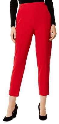 Karen Millen Button Detail High-Waist Cropped Pants