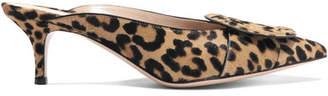 Gianvito Rossi 55 Leopard-print Calf Hair Mules
