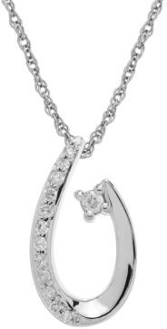 Lord & Taylor 14Kt. White Gold Diamond Pendant Necklace