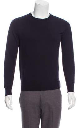 Givenchy Neoprene-Accented Crew Neck Sweater
