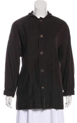 eskandar Corduroy Button-Up Top