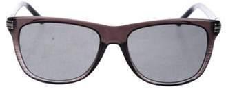 Montblanc Square Tinted Sunglasses black Square Tinted Sunglasses