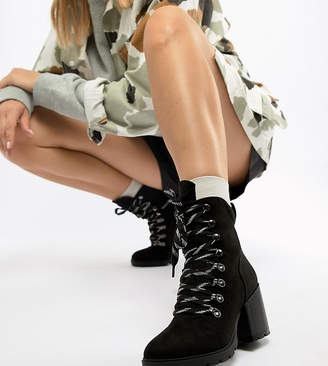 Truffle Collection Heeled Hiker Boots