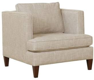 Pottery Barn Harper Upholstered Armchair with Tufted Seat Cushion