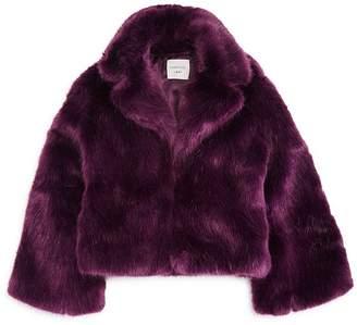 Zoey Habitual Kids Girls' Faux Fur Jacket - Big Kid