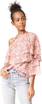 WAYF Colton Tiered One Shoulder Top $79 thestylecure.com