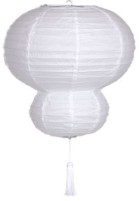 Taro Double Ball White Paper Lantern
