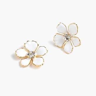 J.Crew Enamel pansy earrings