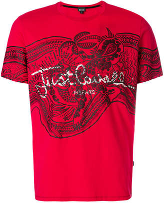 Just Cavalli printed logo T-shirt