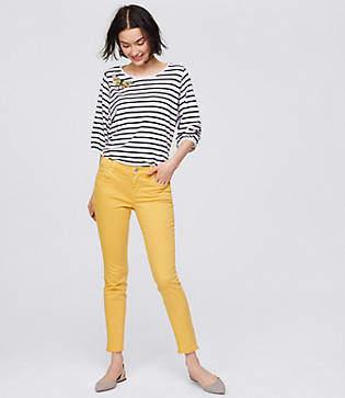 LOFT Modern Frayed Skinny Crop Jeans