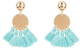 Ettika Circle & Tassel Earrings