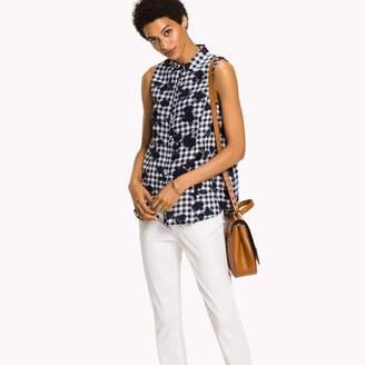 Tommy Hilfiger Linen Print Sleeveless Shirt