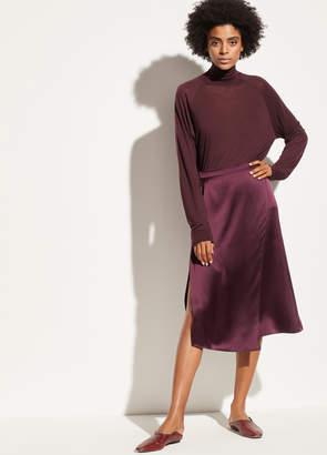 Satin Drape Panel Skirt