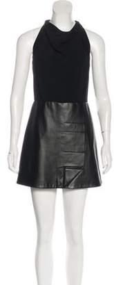 Roland Mouret Mini Leather Dress Black Mini Leather Dress