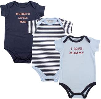 Luvable Friends Baby Boys' Bodysuit Pack of 3