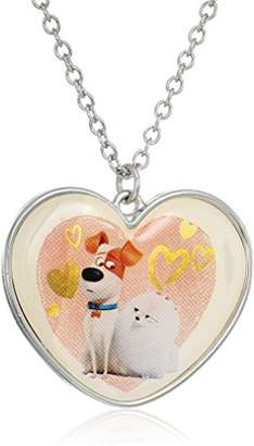 Secret Life of Pets Framed Max Gidget Heart Pendant Necklace