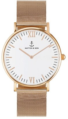 Women's Kapten And Son 'Campina' Mesh Strap Watch, 36Mm $189 thestylecure.com