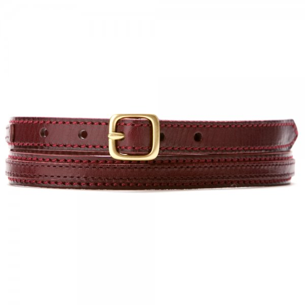 Women's Skinny Equestrian Belt with Side Buckles