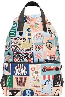 Fendi patch-work drawstring backpack