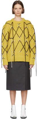Calvin Klein Yellow Mohair Crewneck Sweater