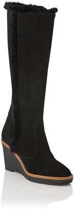 LK Bennett Margie Genuine Shearling Wedge Knee High Boot