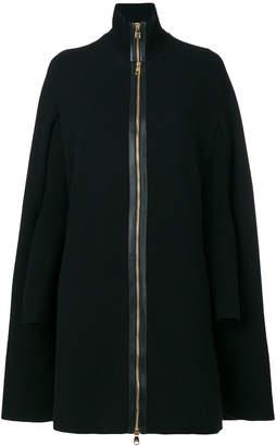 Salvatore Ferragamo layered zip up cape
