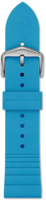 Fossil 22mm Electric Blue Silicone Strap