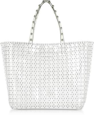 RED Valentino Flower Puzzle Transparent Tote Bag