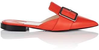 Altuzarra Women's Buckle-Strap Leather Mules