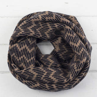 Miss Knit Nat Zig Zag Knitted Circle Scarf