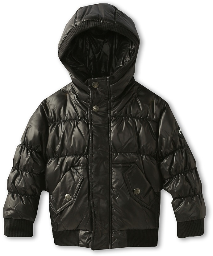 Appaman Kids - Boys' Down Filled Super Soft Puffy Coat (Toddler/Little Kids/Big Kids) (Black) - Apparel