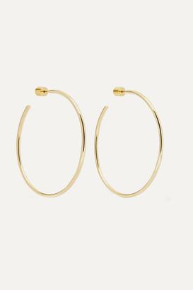 Jennifer Fisher 2 Thread Gold-plated Hoop Earrings