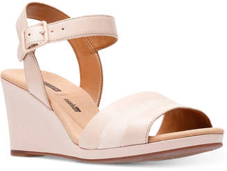 Clarks Collection Women's Lafely Aletha Wedge Sandals Women's Shoes