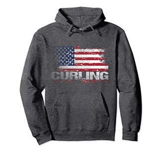 USA Flag Curling Hoodie