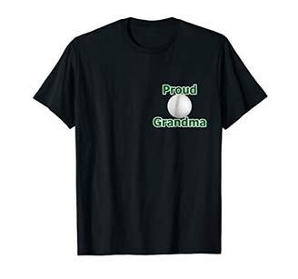 Proud Grandma of Youth Golf Course Playing Son T-Shirt Green