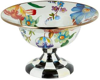 Mackenzie Childs Courtly Check Enamel Serving Compote