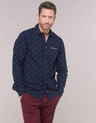 Regular Fit Ams Blauw Allover Print Shirt In Seasonal Patter