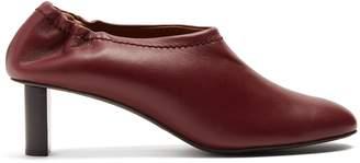 Joseph Block-heeled leather pumps