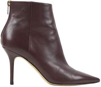 Jimmy Choo Burgundy Leather Heels