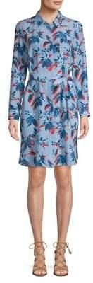 Marella Bird-Print Silk Shirtdress