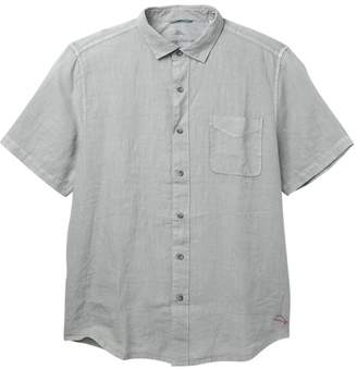 Tommy Bahama Seaspray Breezer Short Sleeve Linen Regular Fit Shirt (Big & Tall)