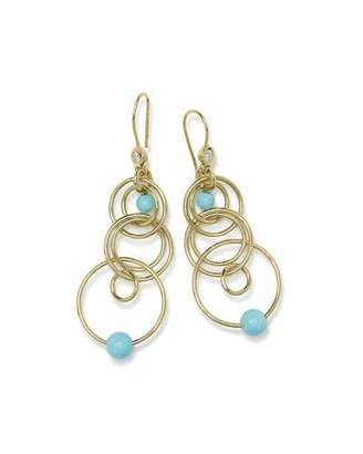 Ippolita 18k Nova Diamond Jet Set Earrings in Turquoise