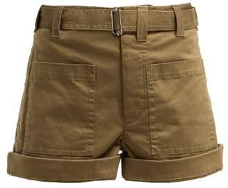 Proenza Schouler Pswl - Utility Cotton Blend Twill Shorts - Womens - Khaki