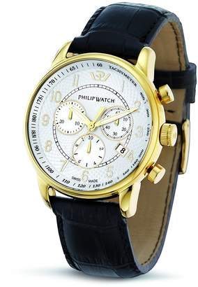 Philip Watch Philip Kent Men's Quartz Watch with White Dial Chronograph Display and Purple Leather Strap R8271678003