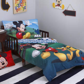 Disney Mickey Mouse Playhouse 4 Piece Toddler Bedding Set