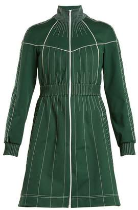 Valentino High Neck Jersey Dress - Womens - Green