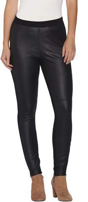 Halston H By H by Embossed Faux Suede Leggings with Zippers
