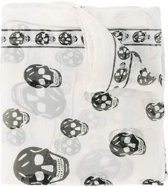 Alexander McQueen Chiffon Skull Scarf